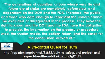 Duty to Safeguard, Protect and Respect Health and Life