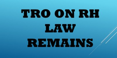 TRO on RH LAW remains