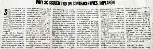 Why SC Issued TRO on Contraceptives, Implanon
