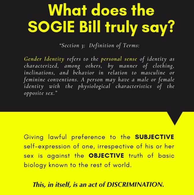 The truth about the SOGIE Bill