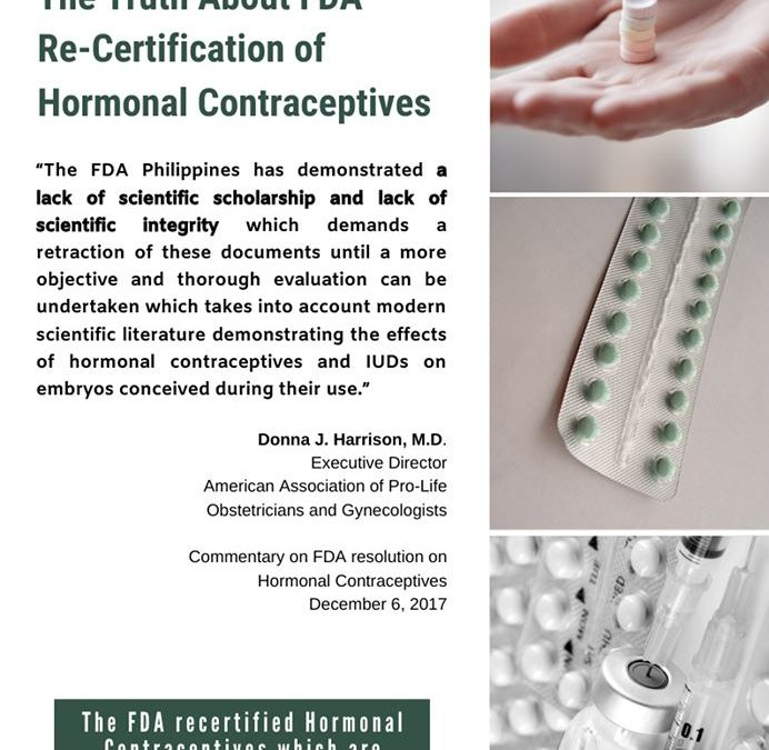 The Truth About the FDA Re-certification of Hormonal Contraceptives