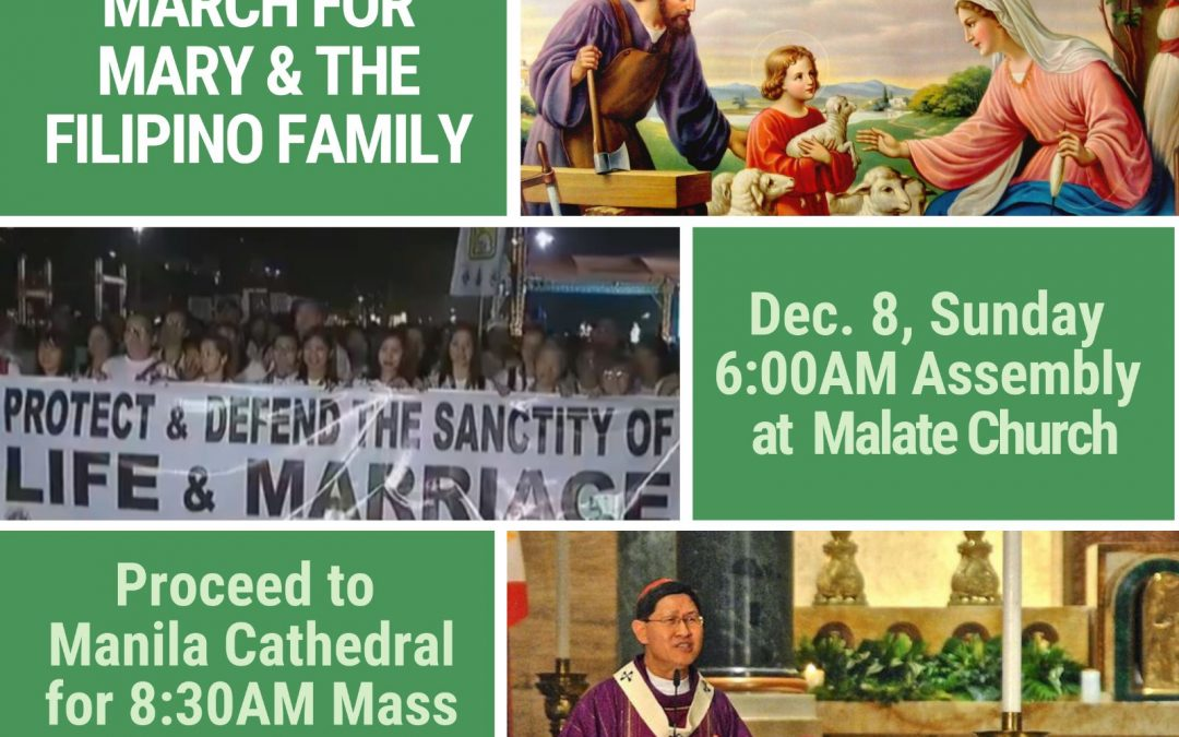March for Mary and The Filipino Family