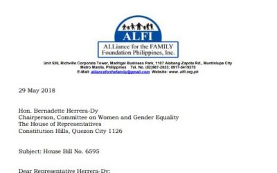 ALFI's POSITION PAPER ON HOUSE BILL 6595
