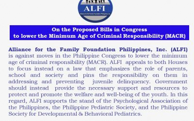 ALFI Statement on the Proposed Bills in Congress to lower the Minimum Age of Criminal Responsibility (MACR)