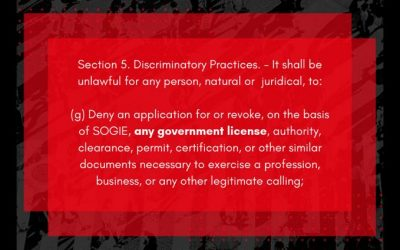 """The SOGIE Bill allows for same-sex """"marriage"""""""