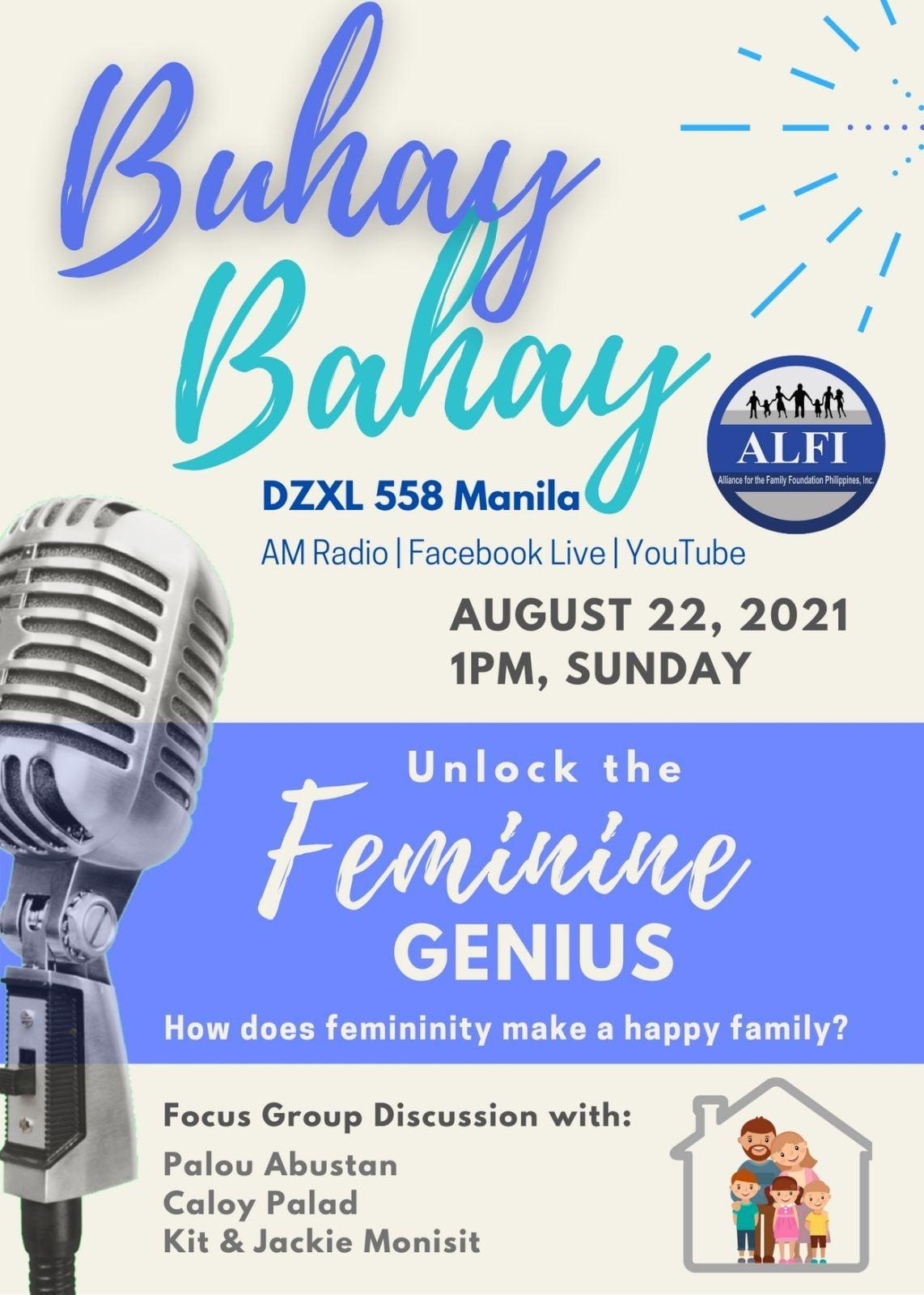 Buhay Bahay - Unlock The Feminine Genius